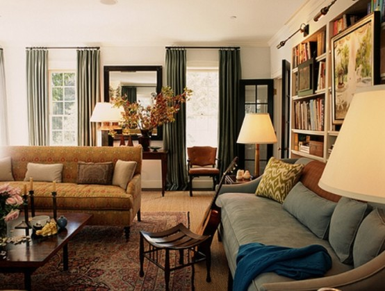 Blending the traditional and modern living room design - Traditional contemporary living room ...